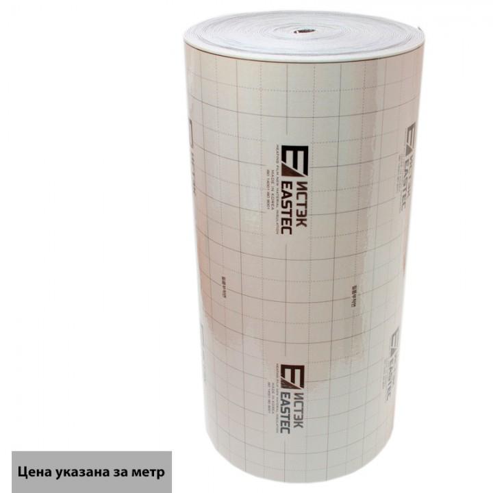 Термоизоляция лавсановая (подложка под теплый пол) EASTEC 1000мм*3мм Корея (50м/рул)