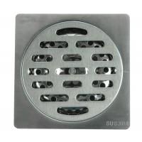 Трап сантехнический MAGdrain PC 01 Q50-G (100*100, магнитный клапан, Нерж. Полиров. блестящий)