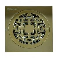 Трап сантехнический MAGdrain CC 06 Q50-Z (100*100, магнитный клапан, Латунь, Цирконий Золото)