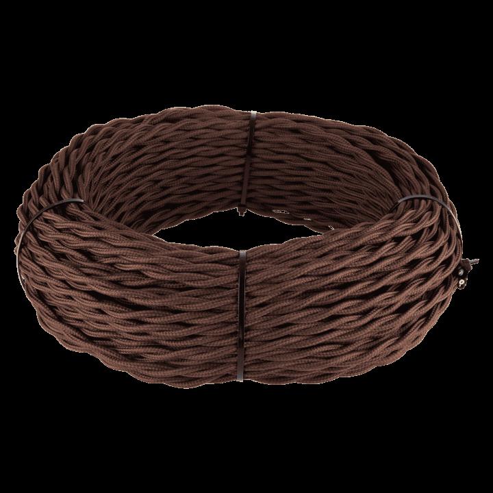 Кабель витой 3х2,5 WERKEL (коричневый) Ретро