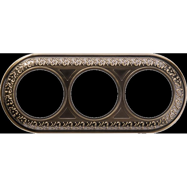 Рамка на 3 поста WERKEL (бронза) WL70-Frame-03