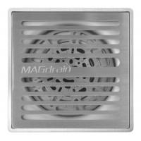 Трап сантехнический MAGdrain PFC 35 Q50-B (100*100, магнитный клапан, Нерж., Матовый)