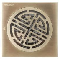 Трап сантехнический MAGdrain CC 07 Q50-Q (100*100, магнитный клапан, Латунь, Полированная бронза)