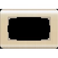 Рамка для двойной розетки WERKEL (шампань) WL12-Frame-01-DBL