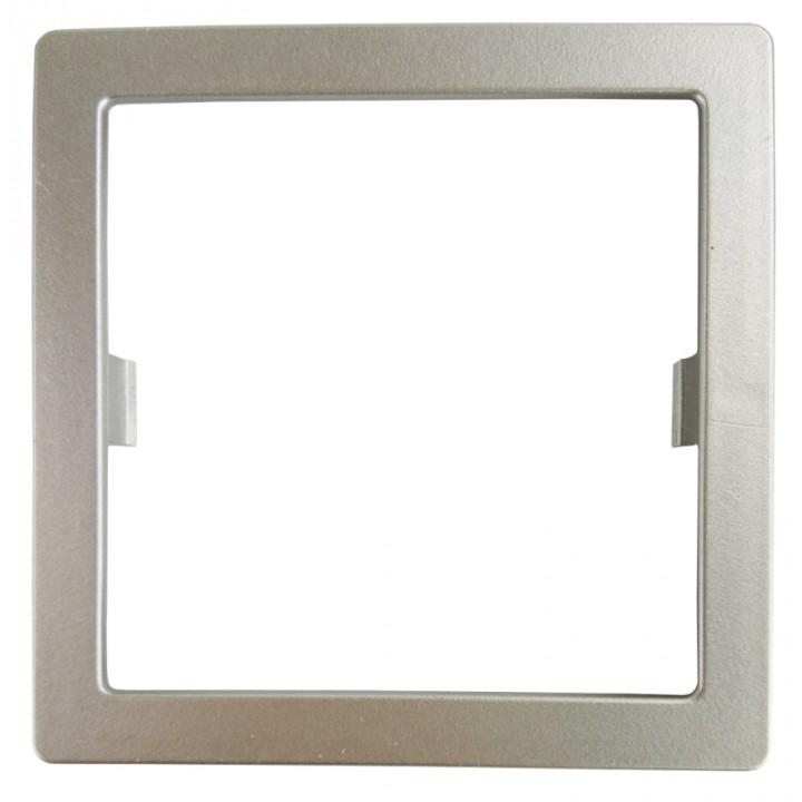 Рамка-адаптер (вставка)  Schneider Glossa к терморегулятору Е-30 и Е-34 серебряный