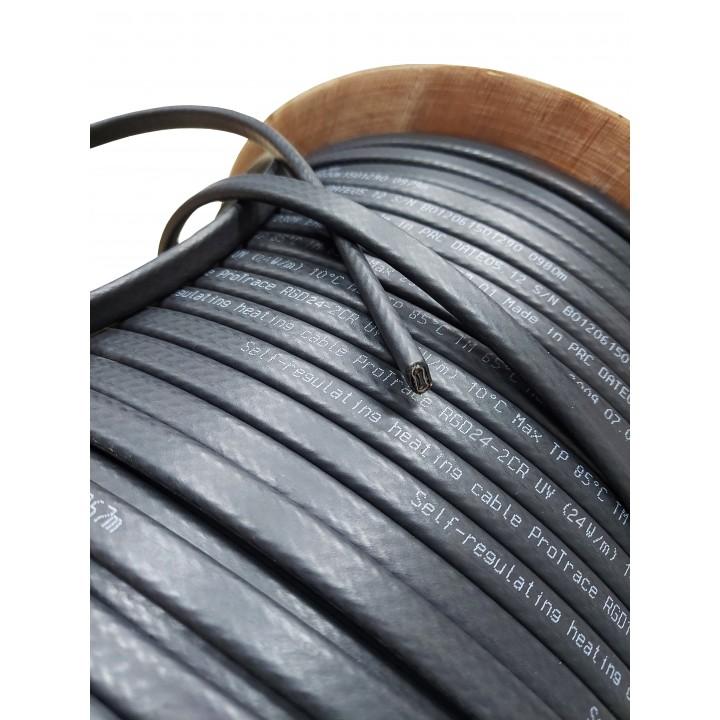RGD 24-2CR(UV) (24 Вт/м) Саморег. нагревательный кабель, с УФ защитой