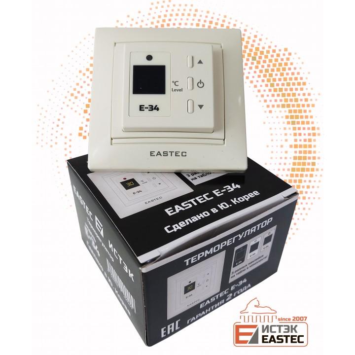 Терморегулятор EASTEC E-34  бежевый (Встраиваемый 3,5 кВт)